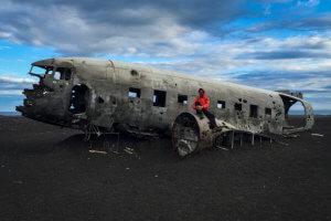 U vraku letadla na jeho oblíbeném Islandu