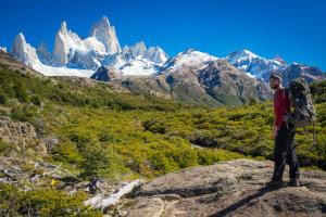 Trekování v Patagonii s výhledem na Fitz Roy neomrzí. Argentina