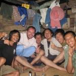 S kamarády na venkově v Thajsku