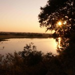 Západ slunce v NP Mahangu