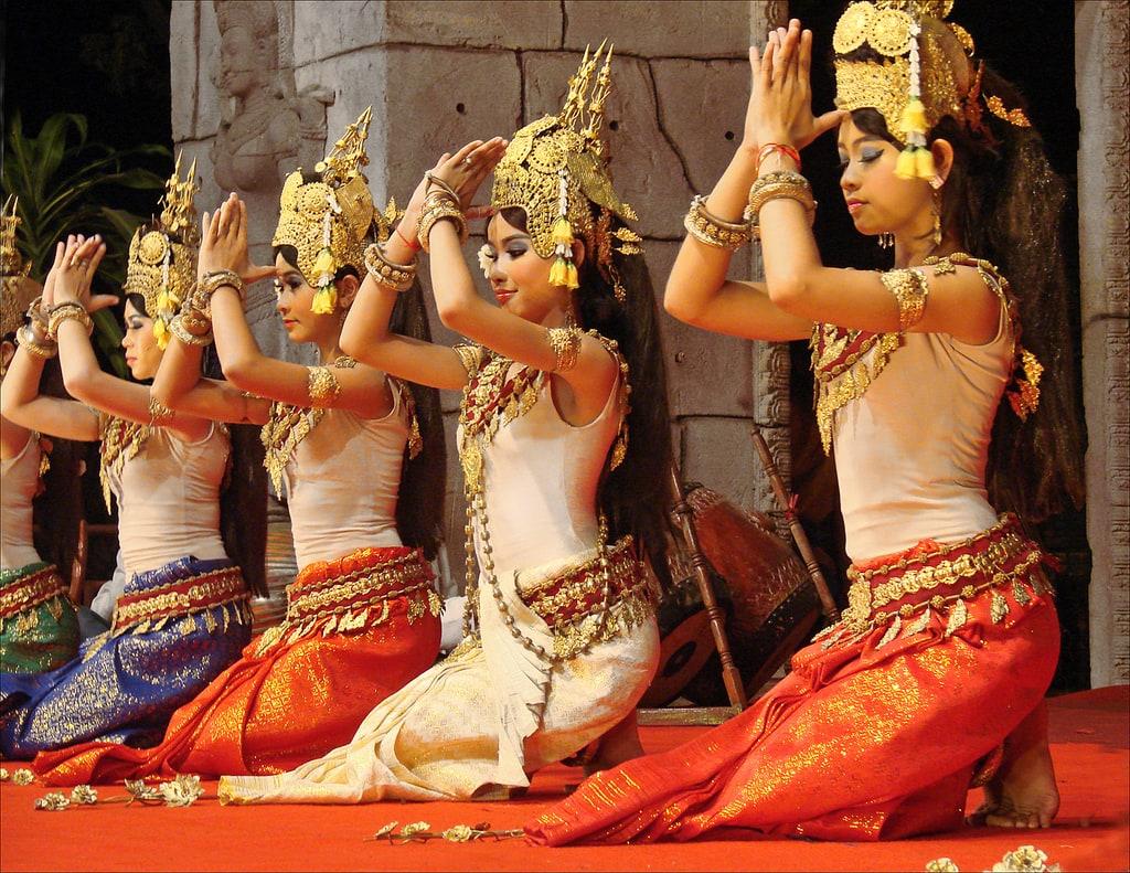 Krásné kambodžské dívky jako Apsary