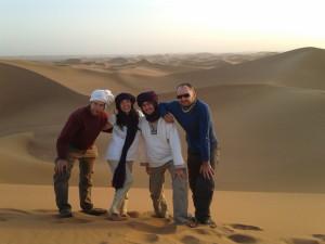 Na písečných dunách Erg Chigagy
