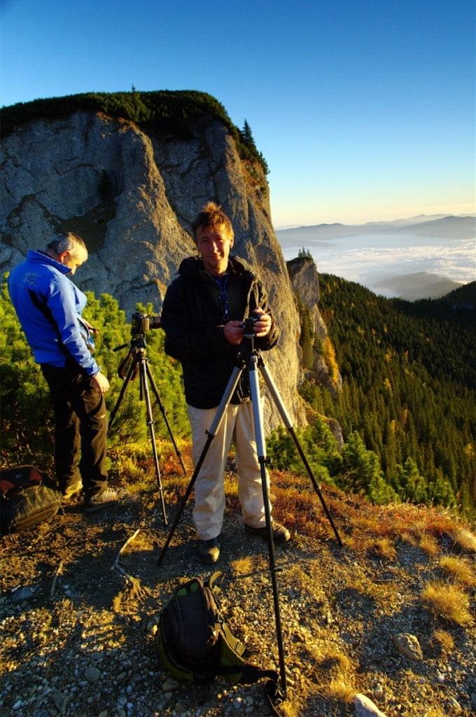 Během fotoworkshopu v pohoří Ceahlau, Rumunsko.