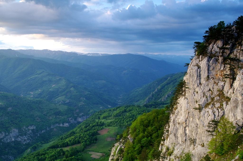 Na okraji pohoří Mehedinti.