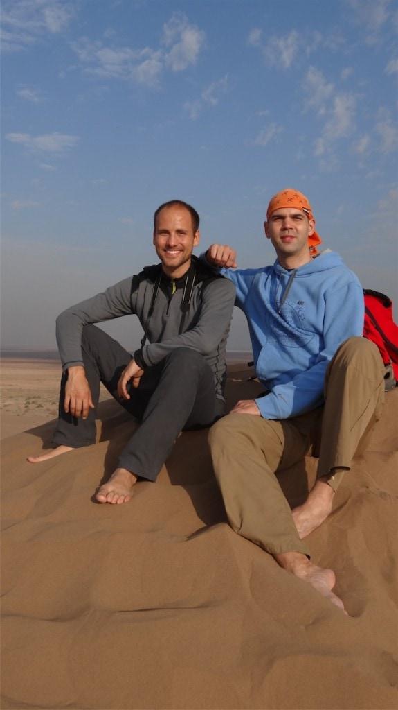 Michal s Mírou na dunách