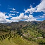 Terasy v Pisaqu, Posvátné údolí, Peru