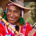 Peruánský hudebník v Cuscu