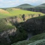Hraniční kaňon mezi Tureckem a Armenií