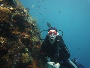 Zuzka - profík potápěč