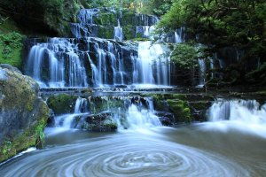 Vodopády Punaraki v Catlins