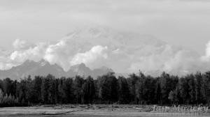 Výhled na Aljašské pohoří z Talkeetny