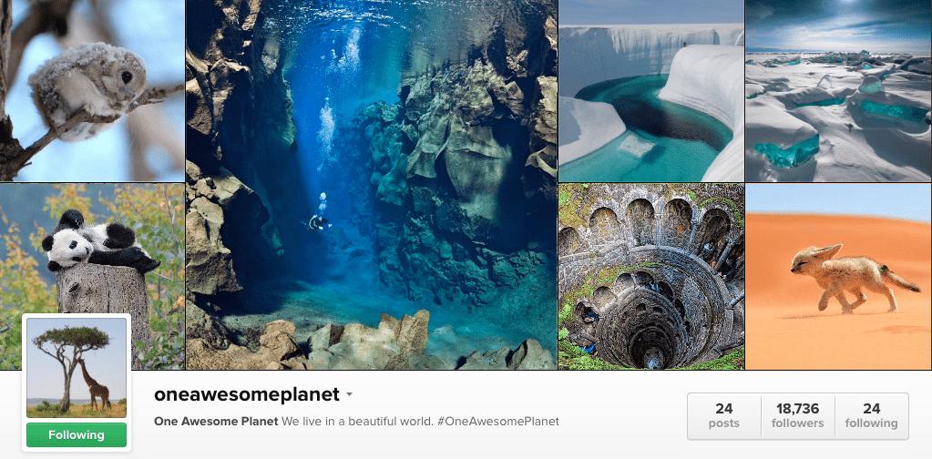 oneawesomeplanet na Instagramu