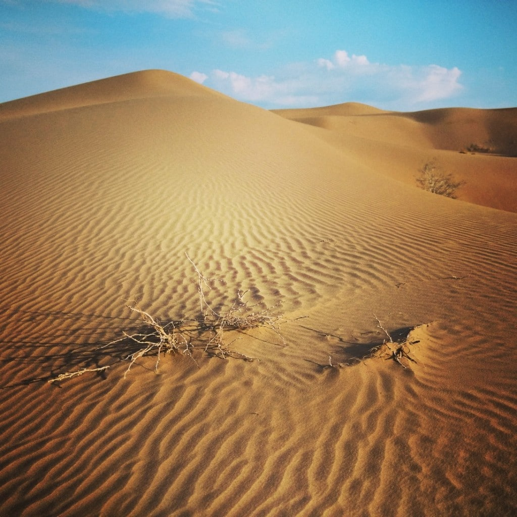 Písečné duny v rámci jednodenního výletu z Kashanu