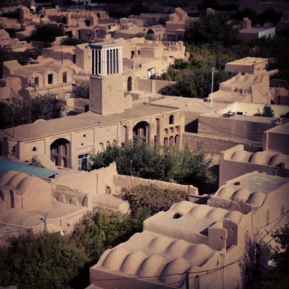 Pouštní architektura města Meybod