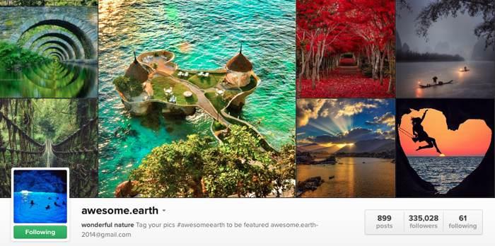 awesomeearth na Instagramu