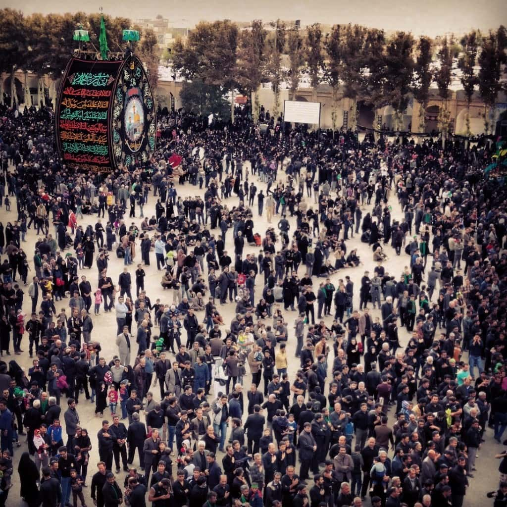 svátek Ašura na náměstí v ...