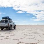 Jeep na Salar de Uyuni
