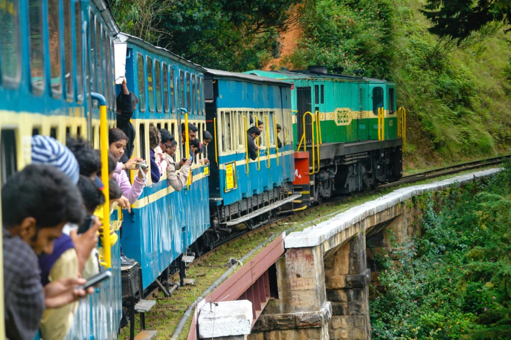 Panoramatický vlak z Ooty