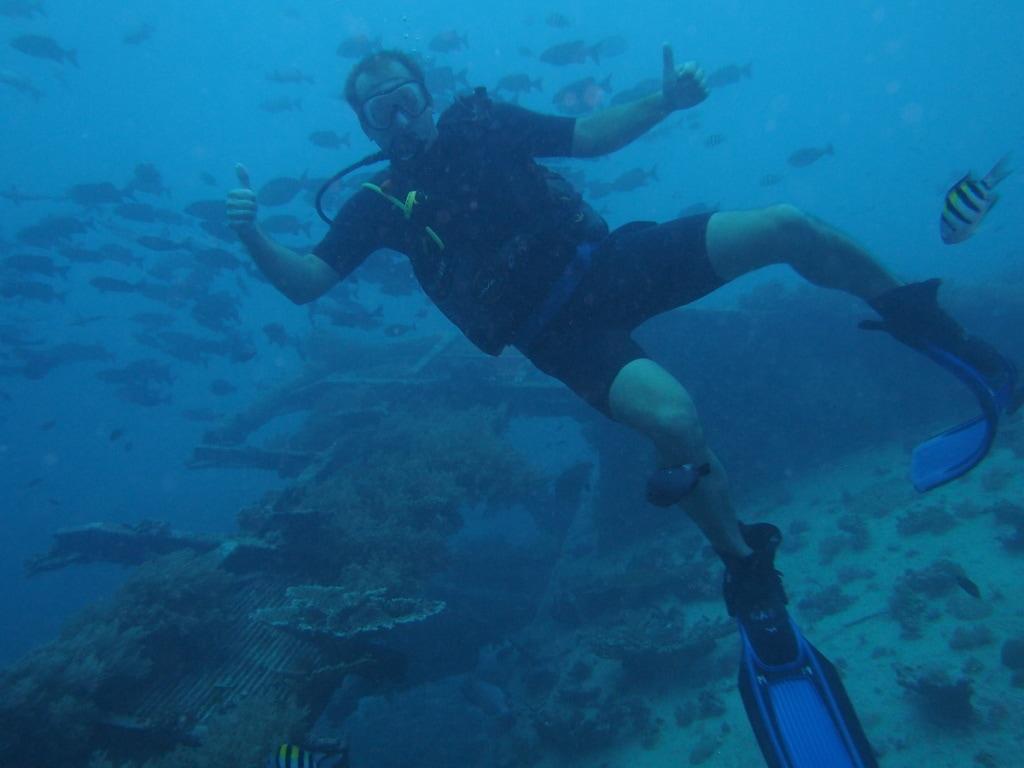 Potápění je Pavlovým velkým koníčkem