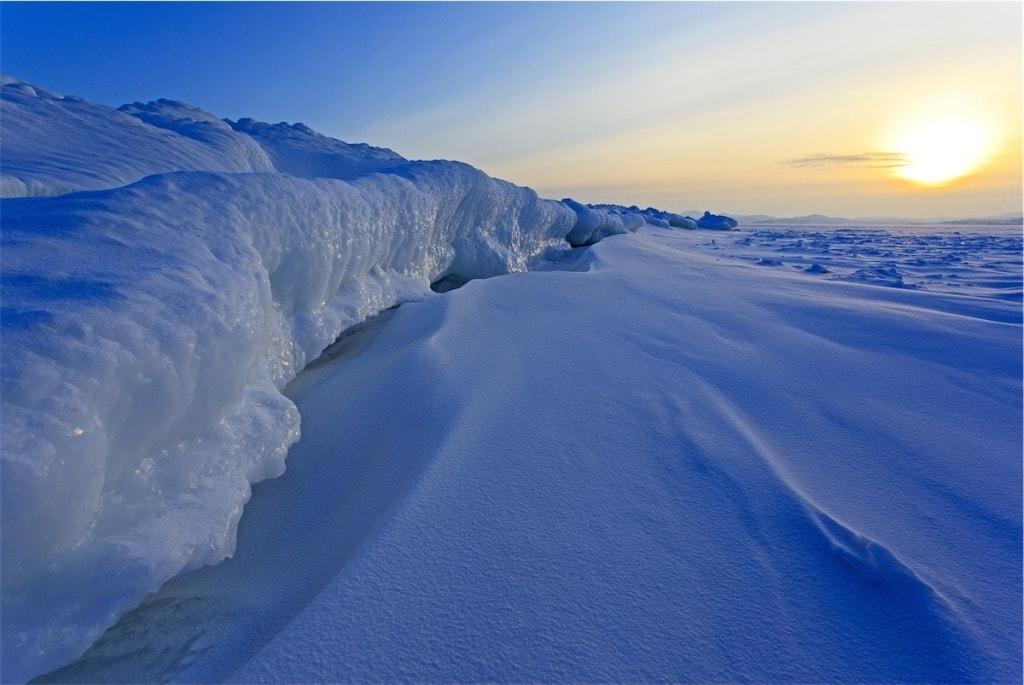 Zasněžené jezero