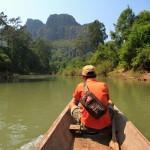 Výjezd z jeskyně Kong Lor