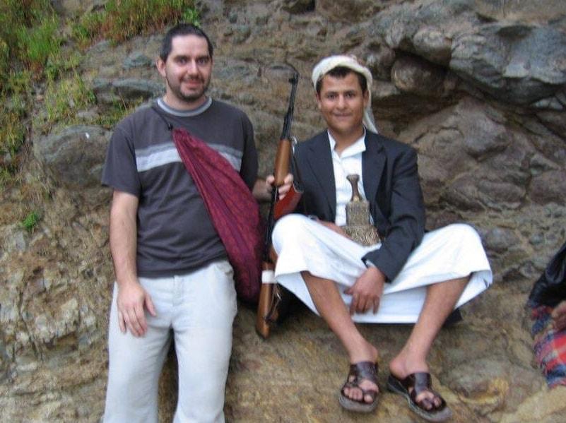 Petr s kamarádem z Jemenu
