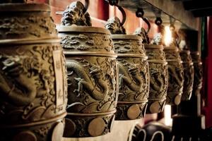 Detail zvonů v Zakázaném městě