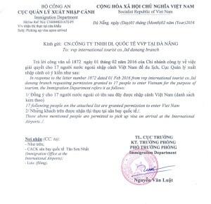 Zvací dopis do Vietnamu 1 stránka