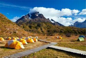 Kempování v horách v NP Torres del Paine