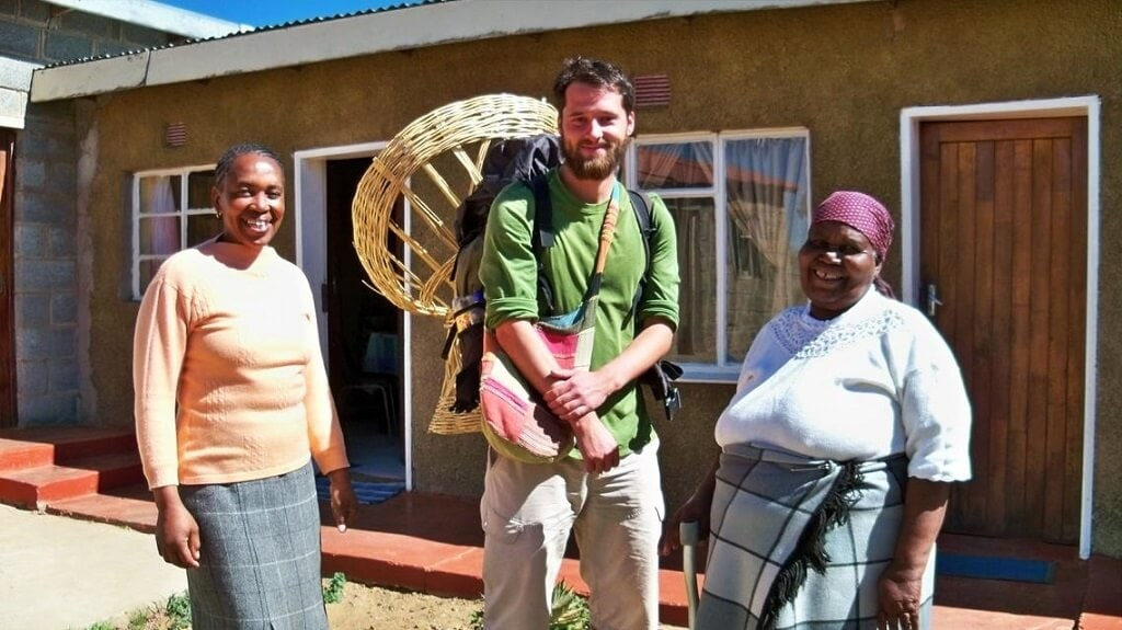 Pozvání k noclehu od milých lesothských žen