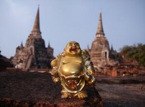 Soška Buddhy na zdi - Ayutthaya - Expedice Thajsko 2016