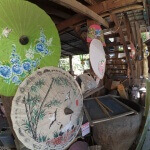Výrobna bambusovo-papírových slunečníků - Chiang Mai - Expedice Thajsko 2016