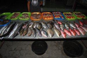 V lepších restauracích si můžeme vybrat čerstvé dary moře