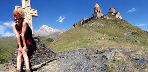 Gergeti, jižní Kavkaz, Gruzie