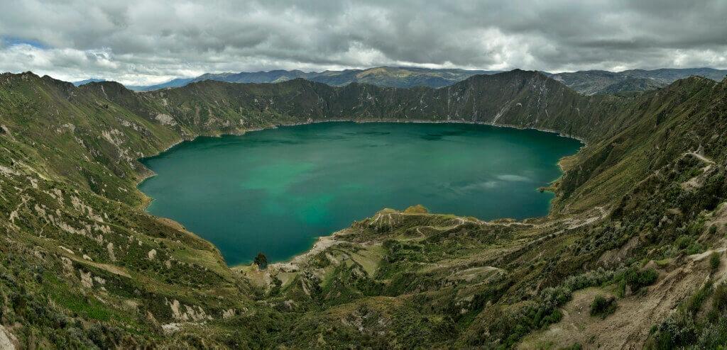 Zatopený kráter Quilotoa