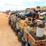 Na trhu jsou kromě ovoce a zeleniny i stánky s čerstvě uvařeným jídlem (foto: Hugo a Caro Minaar)
