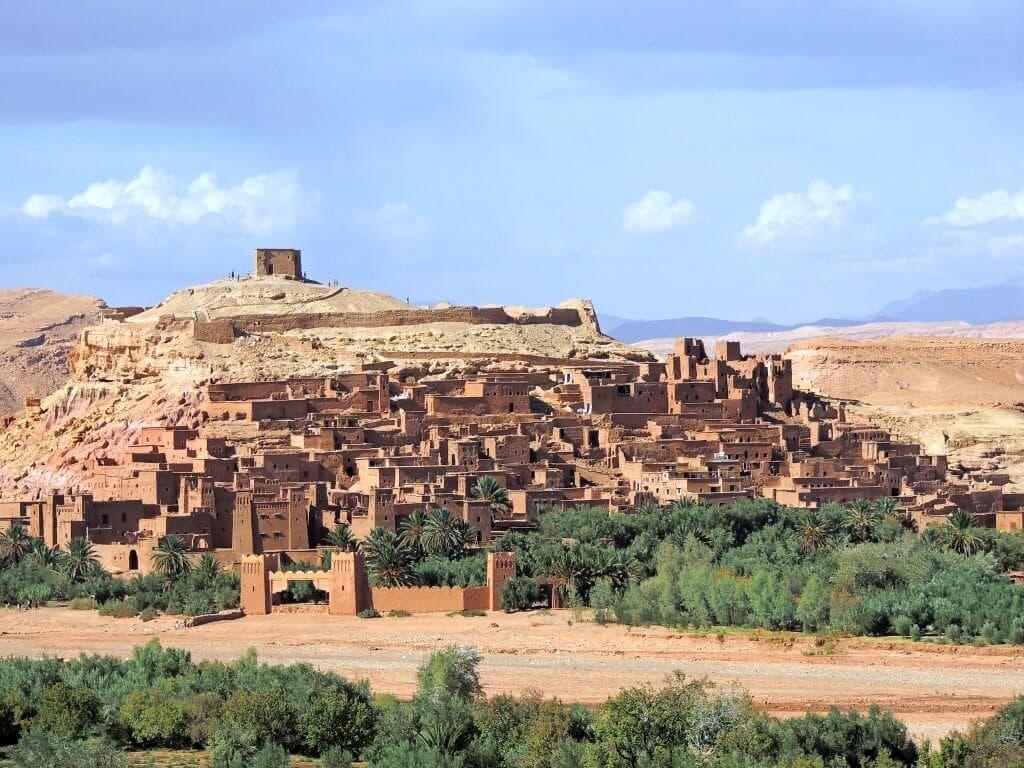 Ait BenHaddou - staré město - kasbah - ulepený z hlíny
