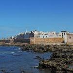 Essaouira u Atlantického oceánu - přístav a hradby