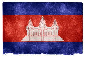 Cambodia Grunge Flag od Nicolas Raymond / CC BY 3.0