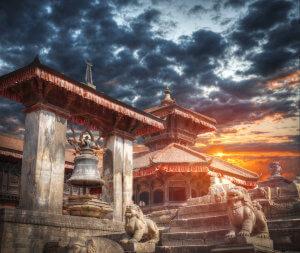 Náměstí Durbar v královském městě Bhaktapur