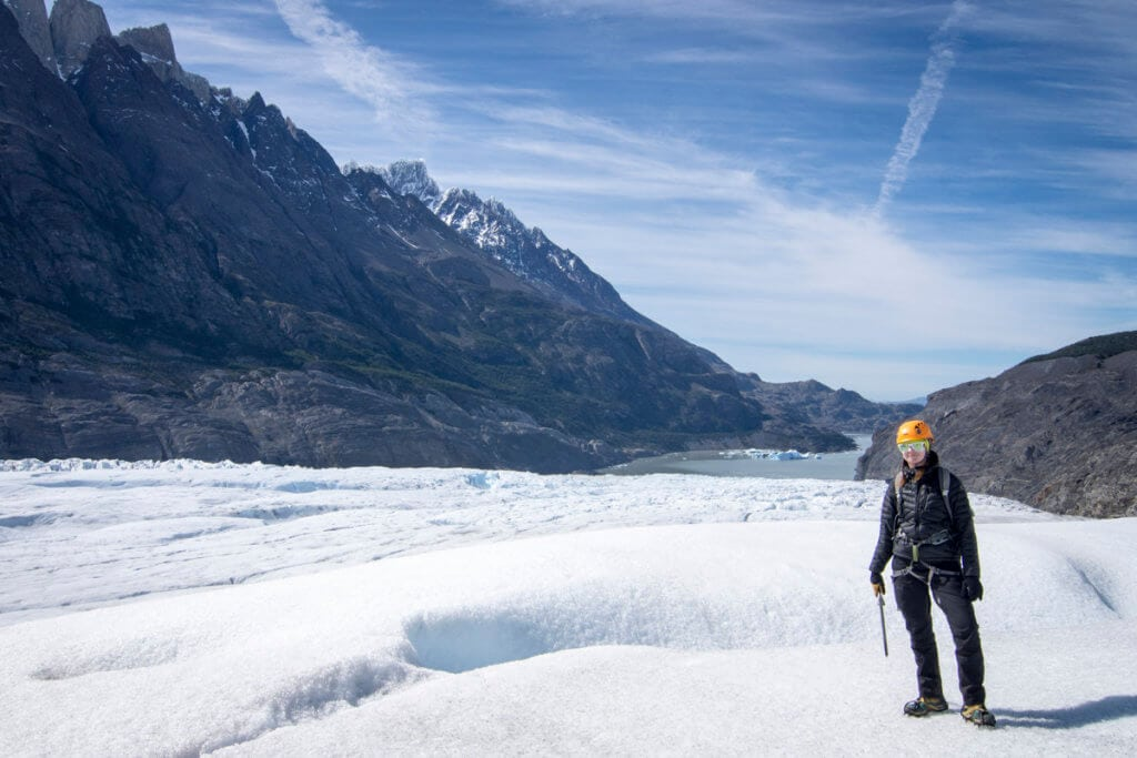 Trekking na ledovci Grey v Patagonii