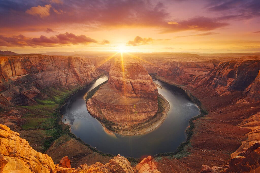 Slavný Horseshoe Bend na řece Colorado