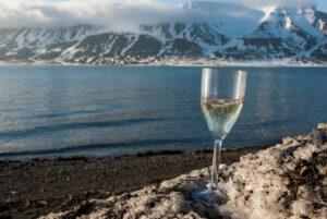 V letních měsících je na Špicberkách ideální teplota pro uchování bílého vína. Na červené ale může být poněkud chladno :)