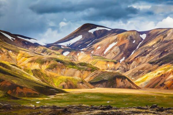Duhové hory v Landmannalaugaru