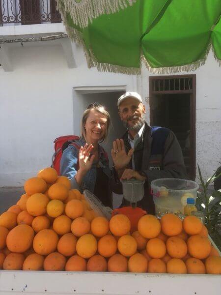 V Casablance, nejlepší fresh orange juice a nejvtipnější prodavač