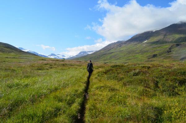 Na treku v Akureyri, Island