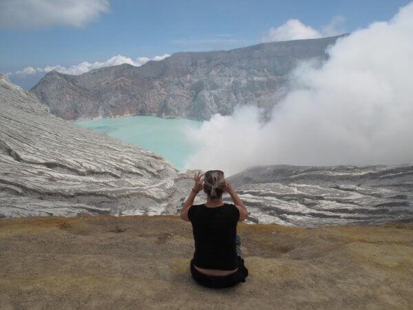 Kawah Ijen, konečně na vrcholu, Indonésie