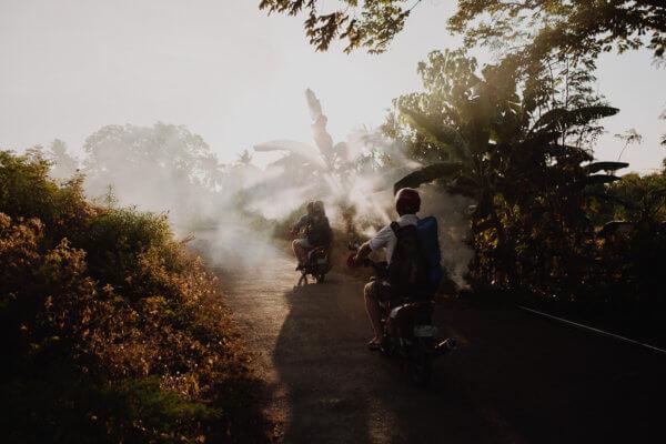 Jízda na motorce na Filipínách