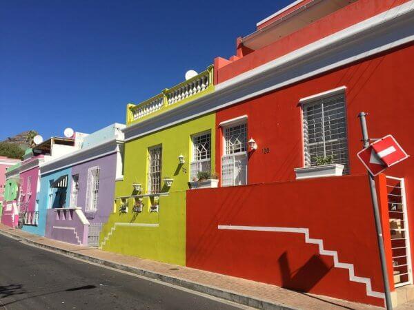 Barevné domky ve čtvrti Bo Kaap, Kapské město