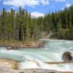 Vodopády Sunwapta falls